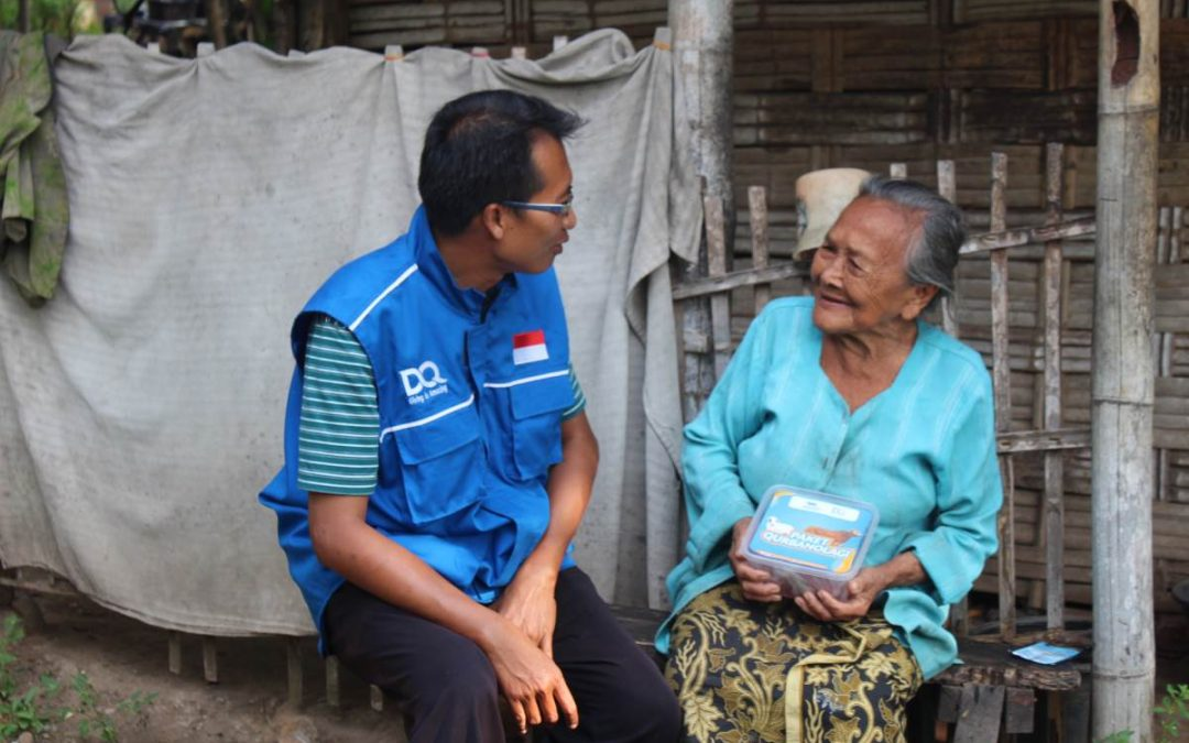 Dompet Alquran Menyalurkan Hewan Qurban di Dusun Terpencil