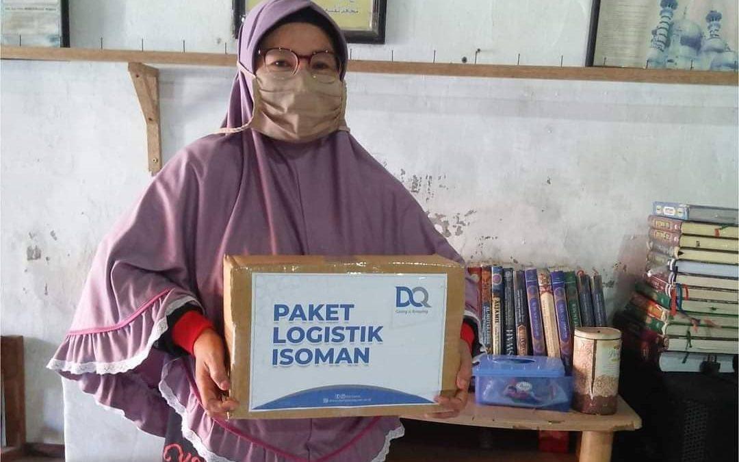 DQ Gresik Salurkan Paket Sembako Untuk Warga Isoman