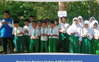 Penyaluran Rendang Qurban ke Siswa Yatim Dhuafa MI Darul Mujtahid Pamekasan